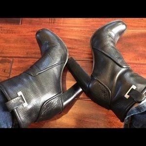 Rachel Zoe Black Leather Charlie High Heel Booties
